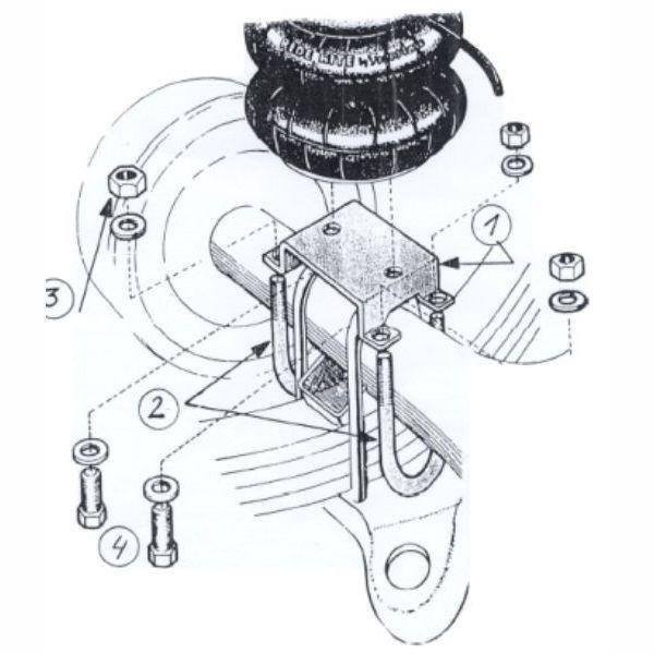 Renforts de suspension arrière pour Isuzu D-Max I